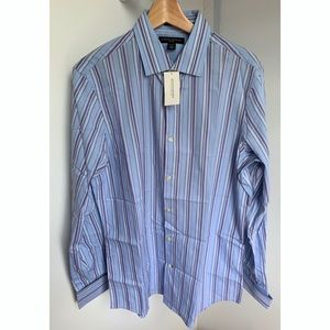 """Fitted Med 15 - 15.5"""" French Cuff Button Up Shirt"""